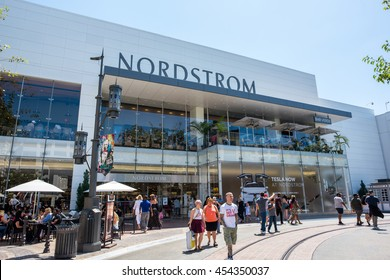 Los Angeles, CA/USA: 7/16/2016: Nordstrom store at The Grove shopping mall in the Los Angeles area. Nordstrom is a luxury fashion retailer that was founded in 1901.
