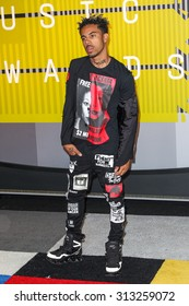 LOS ANGELES, CA/USA - AUGUST 30 2015: Vic Mensa attends the 2015 MTV Video Music Awards at Microsoft Theater.