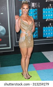 LOS ANGELES, CA/USA - AUGUST 30 2015: Britney Spears attends the 2015 MTV Video Music Awards at Microsoft Theater.