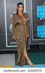 LOS ANGELES, CA/USA - AUGUST 30 2015: Kim Kardashian-West attends the 2015 MTV Video Music Awards at Microsoft Theater.