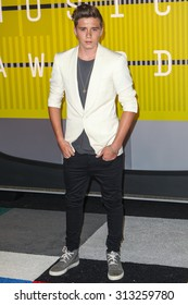 LOS ANGELES, CA/USA - AUGUST 30 2015: Brooklyn Beckham attends the 2015 MTV Video Music Awards at Microsoft Theater.