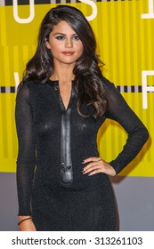 LOS ANGELES, CA/USA - AUGUST 30 2015: Selena Gomez attends the 2015 MTV Video Music Awards at Microsoft Theater.