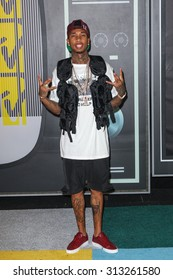LOS ANGELES, CA/USA - AUGUST 30 2015: Tyga attends the 2015 MTV Video Music Awards at Microsoft Theater.