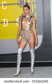 LOS ANGELES, CA/USA - AUGUST 30 2015: Miley Cyrus attends the 2015 MTV Video Music Awards at Microsoft Theater.