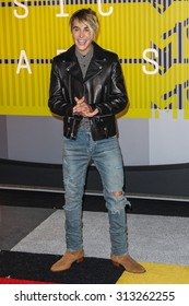 LOS ANGELES, CA/USA - AUGUST 30 2015: Justin Bieber attends the 2015 MTV Video Music Awards at Microsoft Theater.