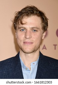 "LOS ANGELES, CA/USA - FEB 18 2020:  Johnny Flynn arrives to the ""Emma"" Los Angeles Premiere on February 18, 2020 in Los Angeles, CA"