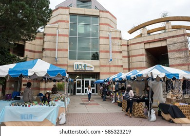 LOS ANGELES, CA/USA - February 21, 2017: UCLA Bookstore on the UCLA campus. UCLA is a public university located on the Westwood area of Los Angeles.