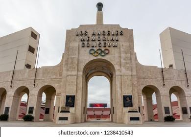 LOS ANGELES, CA/USA - FEBRUARY 7, 2015: Los Angeles Memorial Coliseum. Los Angeles Memorial Coliseum is a sports stadium in the University Park neighborhood of Los Angeles.
