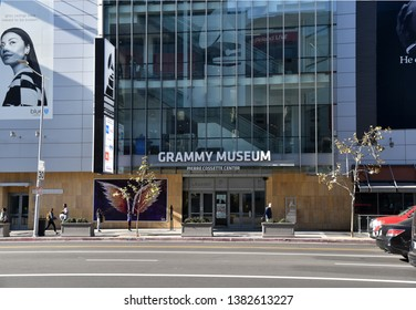 LOS ANGELES, CA/USA  - JANUARY 3, 2019: The Grammy Museum is a popular tourist attraction