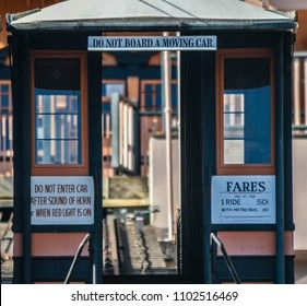Los Angeles, CA/USA January 7, 2016: The world's shortest railway, Angel's Flight in downtown of Los Angeles, CA