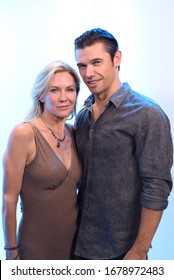 Los Angeles, CA/USA - July 21, 2019: Paul Telfer & Stacy Haiduk in Los Angeles, CA.