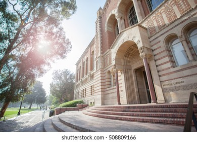LOS ANGELES, CA/USA - June 28, 2016: Powell Library at the University of California, Los Angeles. UCLA is a public university located in Westwood