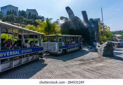 LOS ANGELES, CA/USA - MAY 24: Studio tour at Universal studios hollywood on May 24, 2015 in Los Angeles, CA, USA. It is a theme park and film studio in Los Angeles.