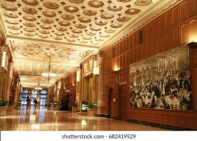 Los Angeles, CA/USA - October 27, 2013: Photo of Millennium Biltmore Hotels ,this Hotel is Pershing Square in Los Angeles Downtown area.