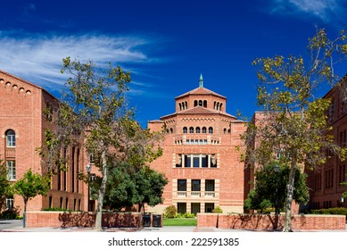 LOS ANGELES, CA/USA - OCTOBER 4, 2014: Powell Library on the campus of UCLA. UCLA is a public research university located in the Westwood neighborhood of Los Angeles, California, United States.