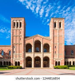 LOS ANGELES, CA/USA - Sept 30, 2018: Royce Hall on the campus of UCLA. Royce Hall is one of four original buildings on UCLA's Westwood campus.