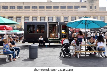 Los Angeles, CA/USA - September 22, 2019: Smorgasburg LA.  Smorgasburg is an outdoor food market, open every Sunday.  777 Alameda Street, Los Angeles.