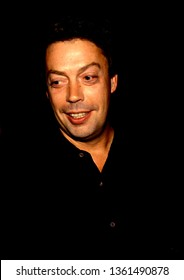 Los Angeles - circa 1991: Actor Tim Curry leaves Spago restaurant.