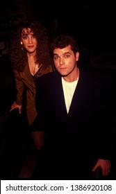 Los Angeles - circa 1991: Actor Ray Liotta leaves Spago restaurant.