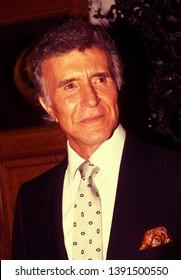 LOS ANGELES - circa 1991: Actor Ricardo Montalban leaves Chasens restaurant.