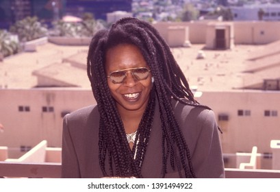 LOS ANGELES - circa 1991: Actress Whoopi Goldberg arrives at the BelAge Hotel.