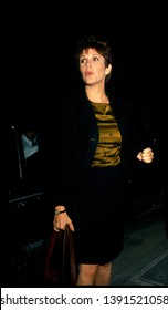 LOS ANGELES - circa 1991: Actress Carrie Fisher leaves Spago restaurant.
