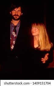 LOS ANGELES - circa 1991:  Actress Sissy Spacek and her husband Jack Fisk leave Spago restaurant.