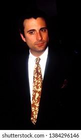 LOS ANGELES - circa 1991: Andy Garcia leaves Spago restaurant.
