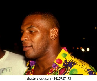LOS ANGELES - circa 1991: Boxing champion Mike Tyson leaves Le Dome restaurant.