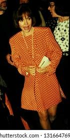 LOS ANGELES - circa 1991: Sally Field leaves Spago restaurant.