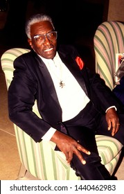 LOS ANGELES - circa 1991:  Singer Joe Williams sits in the lobby of the Beverly Hilton Hotel.