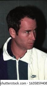 LOS ANGELES - circa 1992: Tennis star John McEnroe leaves the BelAge Hotel.