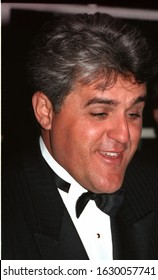Los Angeles - circa 1993: Comedian Jay Leno leaves Chasens restaurant.