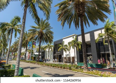 LOS ANGELES - CIRCA AUGUST 2018: Rodeo Drive in Beverly Hills