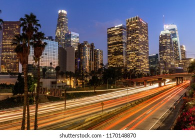 LOS ANGELES - CIRCA AUGUST 2018: Downtown skyline