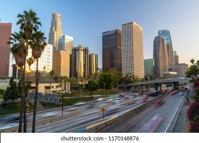 LOS ANGELES - CIRCA AUGUST 2018: Downtown skyline