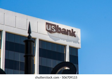 Los Angeles, Circa September 2015: US bank office building in Beverly Hills - U.S. Bancorp is an American diversified financial services holding company headquartered in Minneapolis, Minnesota