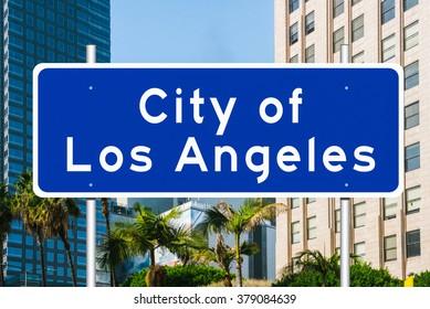 Los Angeles City Limit Road Sign