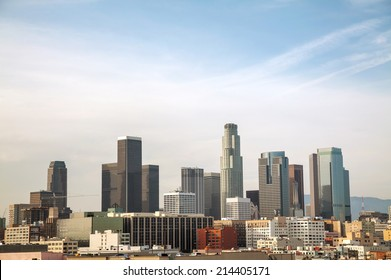 Los Angeles cityscape on a sunny day