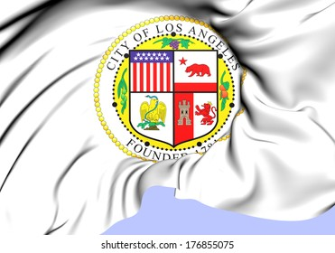 Los Angeles Coat of Arms, USA. Close Up.