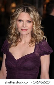 """LOS ANGELES - DEC 05:  MICHELLE PFEIFFER arriving to """"New Year's Eve"""" World Premiere  on December 5, 2011 in Hollywood, CA"""