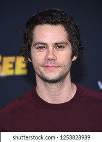 """LOS ANGELES - DEC 09:  Dylan O'Brien arrives to the """"BumbleBee"""" Los Angeles Premiere  on December 9, 2018 in Hollywood, CA"""