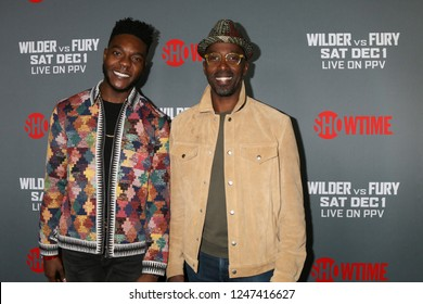 "LOS ANGELES - DEC 1:  Barton Fitzpatrick, Ntare Guma Mbaho Mwine at the Heavyweight Championship Of The World ""Wilder vs. Fury"" - Arrivals at the Staples Center on December 1, 2018 in Los Angeles, CA"