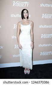 LOS ANGELES - DEC 1:  Dua Lipa at the Variety's 2nd Annual Hitmakers Brunch at the Sunset Tower on December 1, 2018 in Los Angeles, CA