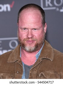 LOS ANGELES - DEC 10:  Joss Whedon arrives to the 'Rogue One: A Star Wars Story' World Premiere on December 10, 2016 in Hollywood, CA