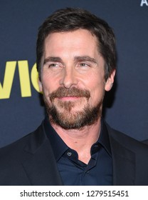 """LOS ANGELES - DEC 11:  Christian Bale  arrives to """"Vice"""" World Premiere  on December 11, 2018 in Hollywood, CA"""