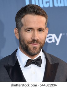 LOS ANGELES - DEC 11:  Ryan Reynolds arrives to the Critics' Choice Awards 2016 on December 11, 2016 in Hollywood, CA