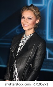 """LOS ANGELES - DEC 11:  Samaire Armstrong arrives at the """"TRON: Legacy"""" Premiere at El Capitan Theater on December 11, 2010 in Los Angeles, CA."""
