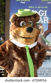 "LOS ANGELES - DEC 11:  Yogi Bear arrives at the ""Yogi Bear 3-D"" Premiere at The Village Theater on December 11, 2010 in Westwood, CA."