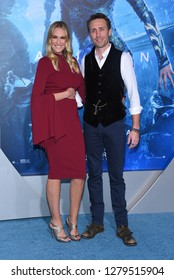 LOS ANGELES - DEC 12:  Ashlan Gorse and Philippe Cousteau arrives to 'Aquaman' Hollywood Premiere  on December 12, 2018 in Hollywood, CA